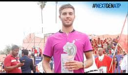 Borna Coric is the champion in Marrakech, turning aside five match points for his maiden ATP World Tour title.