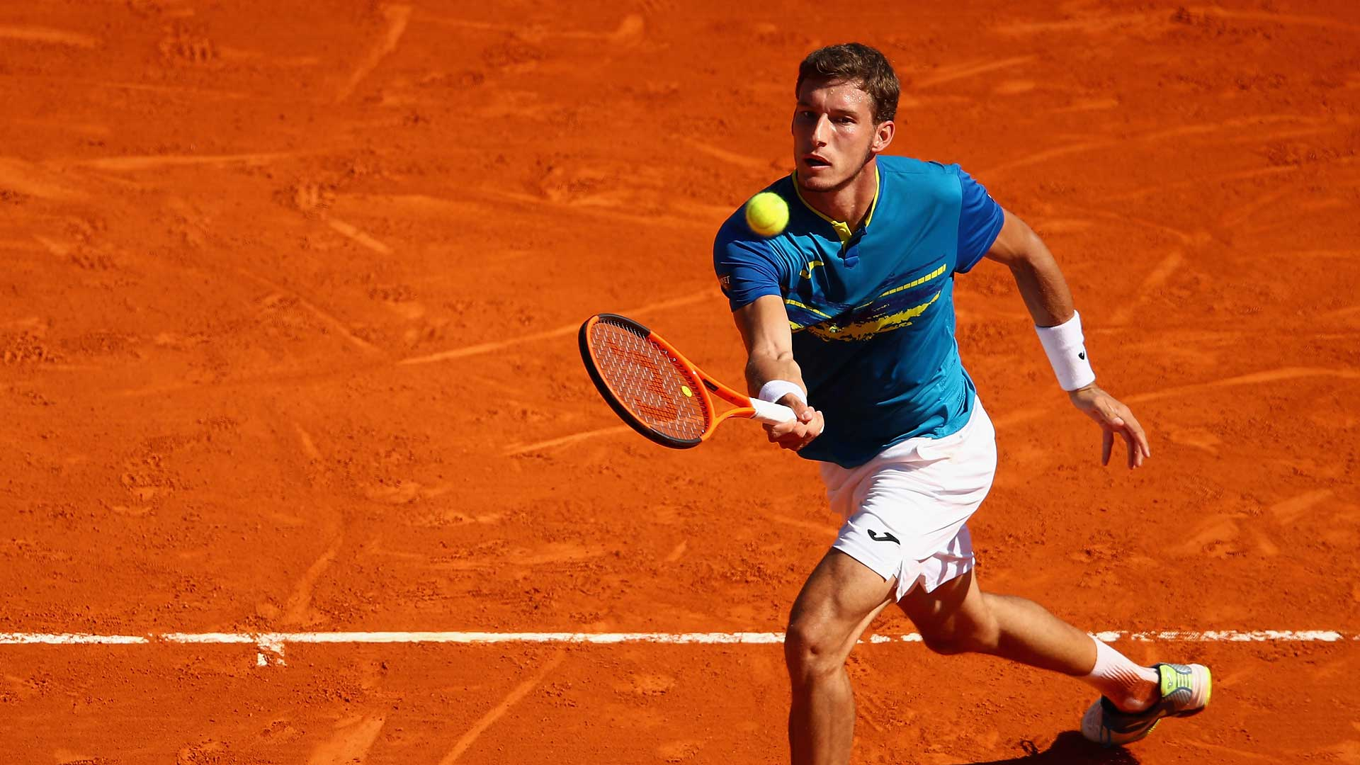 Image result for Carreno-Busta elated to claim first title on clay