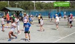Over 500 children joined in kids clinics at the Tallahassee Tennis Challenger.