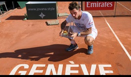 Stan Wawrinka claims his 16th tour-level title on Saturday in Geneva.