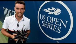 Roberto Bautista Agut defeats Damir Dzumhur to claim his second title of the season in Winston-Salem.