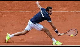 Marin Cilic moves to within one win of becoming Croatia's Davis Cup singles match wins leader.