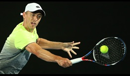 Wild card John Millman held two set points at 5-4 in the first set against defending champion Gilles Muller on Wednesday in Sydney.