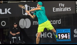 Alex de Minaur plays with great confidence in beating Feliciano Lopez, a player twice his age, on Thursday night for a place in the Sydney semi-finals.
