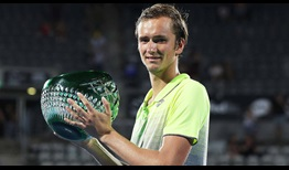 Daniil Medvedev earns the first ATP World Tour title of his career with a victory against home favourite Alex de Minaur at the Sydney International on Saturday.