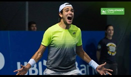 Matteo Berrettini celebrates his second ATP Challenger Tour title, prevailing on home soil in Bergamo.
