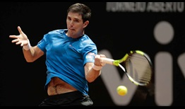 Federico Delbonis, the 2014 Sao Paulo champion, cruises through his opening-round match at the Brasil Open on Monday against Quito winner Roberto Carballes Baena.