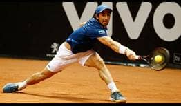 Pablo Cuevas will try to win his fourth consecutive Brasil Open in Sao Paulo.