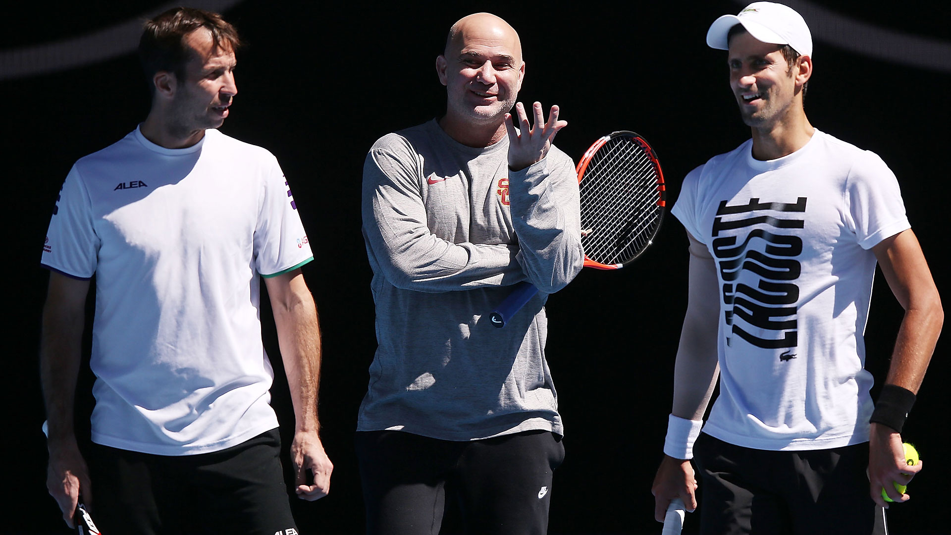 Stepanek, Agassi, Djokovic