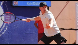 Kyle Edmund defeats Radu Albot in straight sets to reach the Grand Prix Hassan II quarter-finals on Thursday.