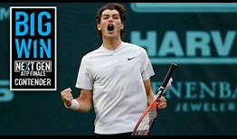 #NextGenATP American Taylor Fritz advances to his first ATP World Tour semi-final on clay Friday by beating third seed Jack Sock in Houston.