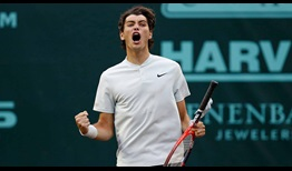 #NextGenATP American Taylor Fritz beats third seed Jack Sock to reach his second ATP World Tour semi-final.