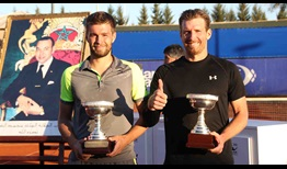 Nikola Mektic and Alexander Peya win their first team title at the Grand Prix Hassan II on Saturday.