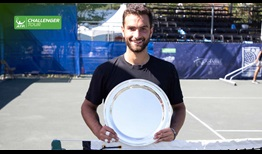 Noah Rubin celebrates his fourth ATP Challenger Tour title - and first on clay - in Tallahassee.