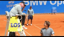 Boris Becker watches on as defending champion Alexander Zverev prepares for his second-round BMW Open by FWU encounter against Yannick Hanfmann.