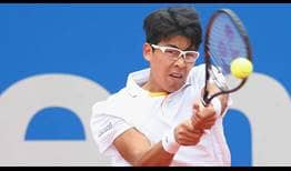Hyeon Chung reaches the Munich semi-finals for the second year in a row after beating former champion Martin Klizan on Friday.