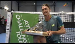 John MIllman lifts the trophy in Aix-en-Provence, soaring to a career-high No. 58 in the ATP Rankings.