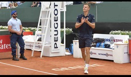 Marton Fucsovics defeats Germany's Peter Gojowczyk in straight sets to win the Banque Eric Sturdza Geneva Open on Saturday.
