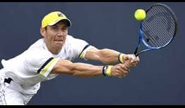 Matthew Ebden upsets defending champion Gilles Muller in straight sets at the Libema Open on Wednesday.