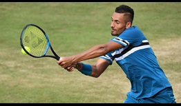 Nick Kyrgios fell just short in the semi-finals of the MercedesCup against Roger Federer. The Aussie had not played a singles tournament since April.