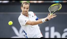 Richard Gasquet defeats Bernard Tomic in three sets to reach the Libema Open final on Saturday.
