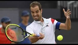 Richard Gasquet defeats Jeremy Chardy in straight sets to clinch his 15th tour-level title on Sunday at the Libema Open.