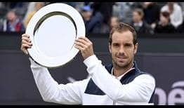 Richard Gasquet defeats countryman Jeremy Chardy in straight sets to win his first Libema Open title on Sunday.