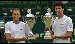 Lukasz Kubot and Marcelo Melo defeat home favourites Alexander Zverev and Mischa Zverev in straight sets to win their second Gerry Weber Open title on Sunday.