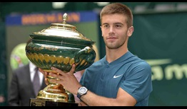 Borna Coric wins his second tour-level title, defeating World No. 1 Roger Federer in the Gerry Weber Open final on Sunday.