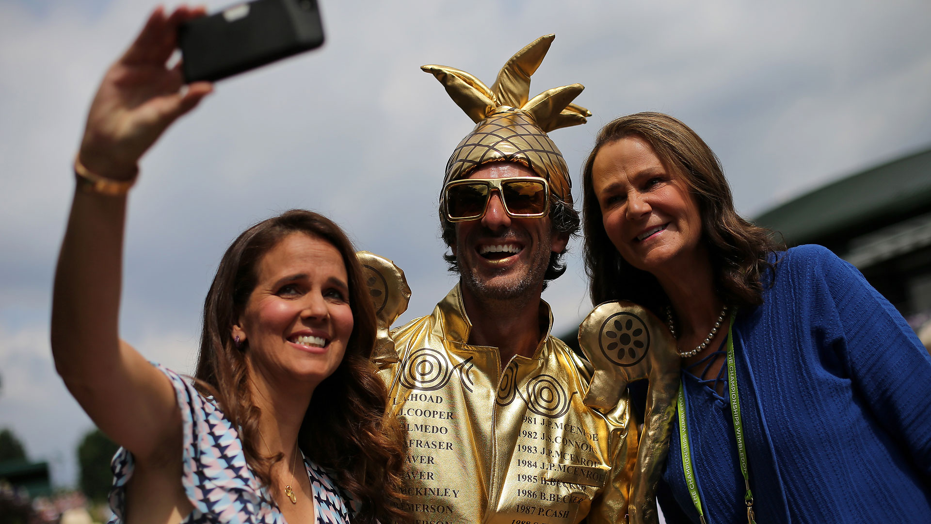 Mary Joe Fernandez, Chris Fava and Pam Shriver