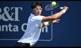 South Korea's Hyeon Chung returns for the first time in more than two months at the BB&T Atlanta Open.