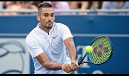 Nick Kyrgios, who triumphed in Atlanta two years ago, defeats Noah Rubin to reach the quarter-finals.