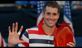 American John Isner beats countryman Ryan Harrison to improve to 5-3 in BB&T Atlanta Open finals on Sunday.