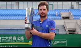 Blaz Kavcic claims his 17th ATP Challenger Tour title in Shanghai.