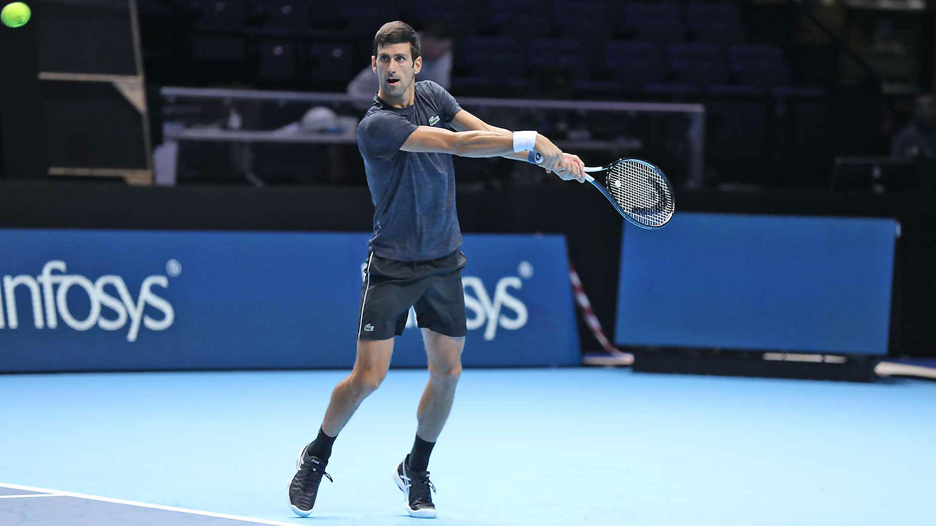 Djokovic Federer Zverev Train At The O2 Ahead Of Nitto Atp Finals