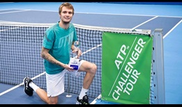 Alexander Bublik celebrates his third ATP Challenger Tour title, prevailing in Bratislava.