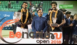 Prajnesh Gunneswaran celebrates his second ATP Challenger Tour title and first on home soil, prevailing in Bengaluru.