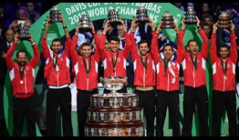 Croatia defeats France 3-1 to earn its second Davis Cup title on Sunday.