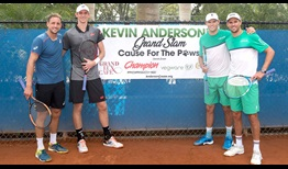 Tennys Sandgren, Kevin Anderson, Bob Bryan and Mike Bryan help raise more than $100,000 for charity.