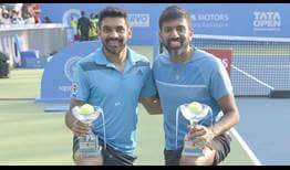 Sharan Bopanna Pune 2019 Saturday Trophy 1
