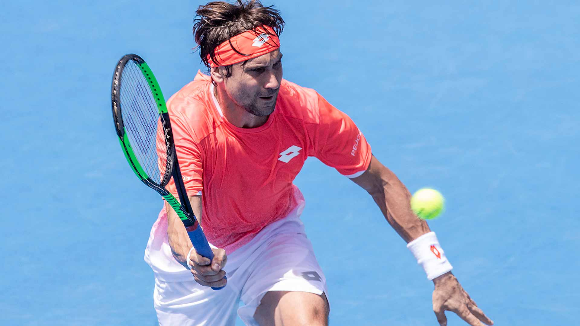 David Ferrer playing at the ASB Classic in Auckland