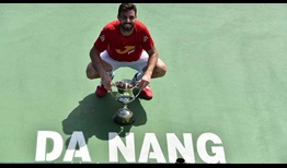 Marcel Granollers celebrates his seventh ATP Challenger Tour title in Da Nang, Vietnam.