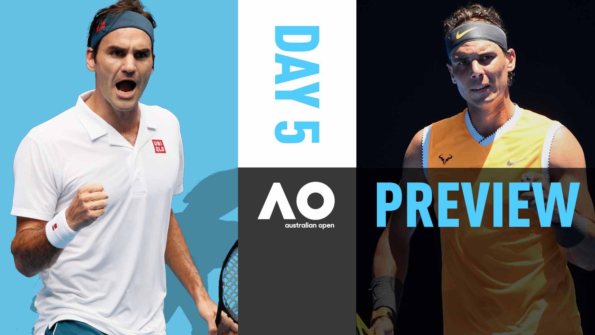 Roger Federer and Rafael Nadal both chase Australian Open fourth round berths.