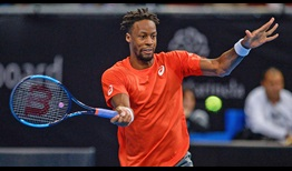 Gael Monfils upsets second seed Stefanos Tsitsipas in 90 minutes on Friday in Sofia.