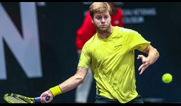 Ryan Harrison continues his success on indoor courts with a win over Peter Polansky at the New York Open.
