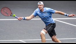 John Isner hits 33 aces on Wednesday en route to the New York Open quarter-finals.