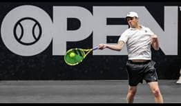 Sam Querrey reaches the semi-finals on Friday at the New York Open.