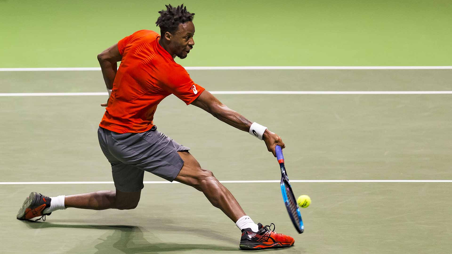 Gael Monfils beats Daniil Medvedev for the first time to reach the ABN AMRO World Tennis Tournament final on Saturday.