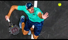 Reilly Opelka hits 43 aces on Saturday evening en route to victory against John Isner in the New York Open semi-finals.