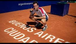 Marco Cecchinato takes his third ATP Tour singles title at the Argentina Open.